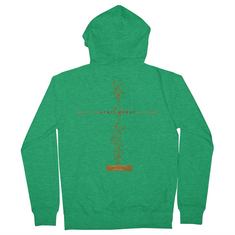 Legit Money Men's Zip-Up Hoody by ChristGang Apparel