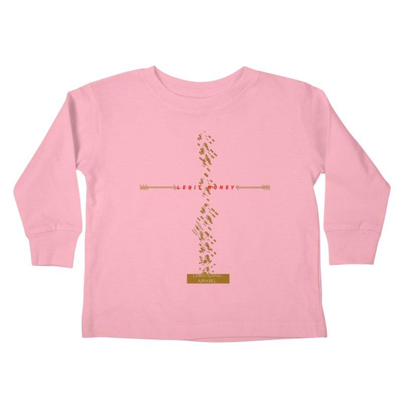 Legit Money Kids Toddler Longsleeve T-Shirt by ChristGang Apparel