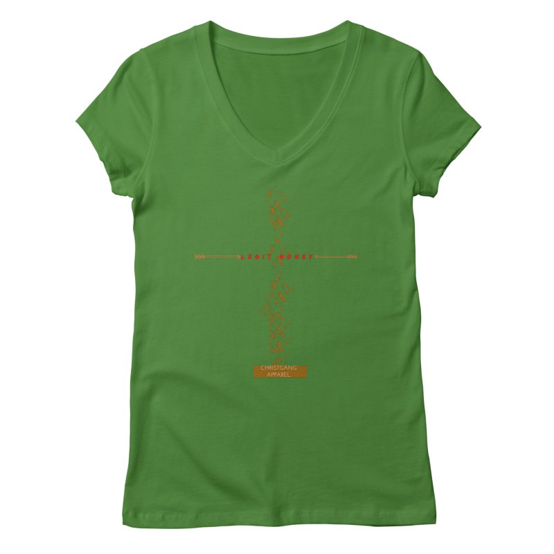 Legit Money Women's Regular V-Neck by ChristGang Apparel