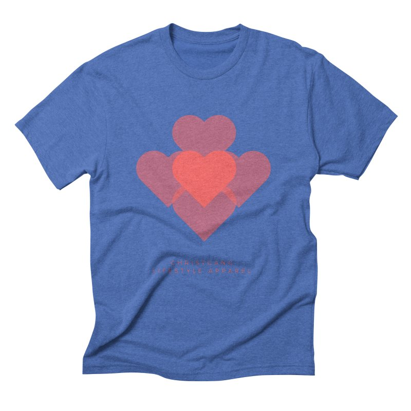 Hearts Men's T-Shirt by ChristGang Apparel