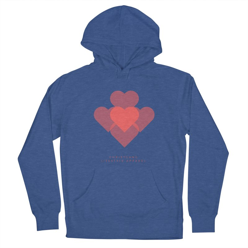 Hearts Women's French Terry Pullover Hoody by ChristGang Apparel