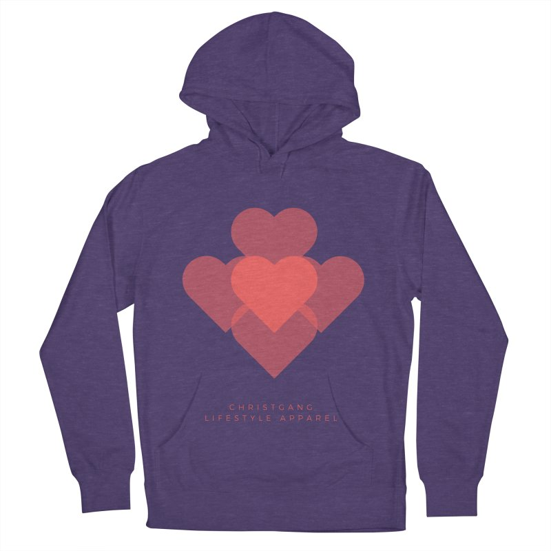 Hearts Men's Pullover Hoody by ChristGang Apparel