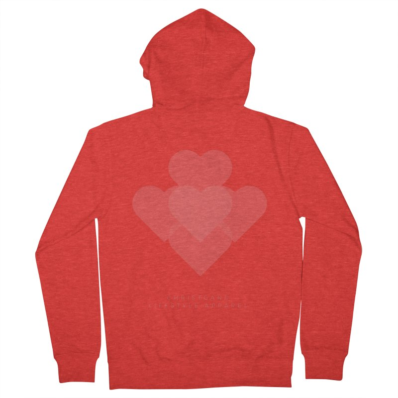 Hearts Women's Zip-Up Hoody by ChristGang Apparel