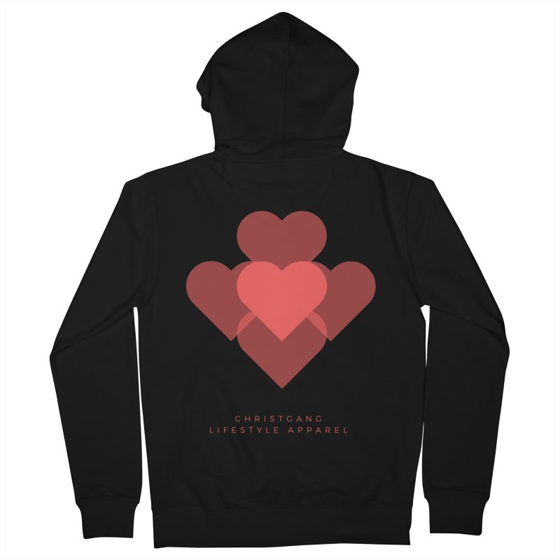 Hearts Men's Zip-Up Hoody by ChristGang Apparel