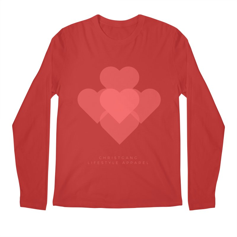 Hearts Men's Regular Longsleeve T-Shirt by ChristGang Apparel