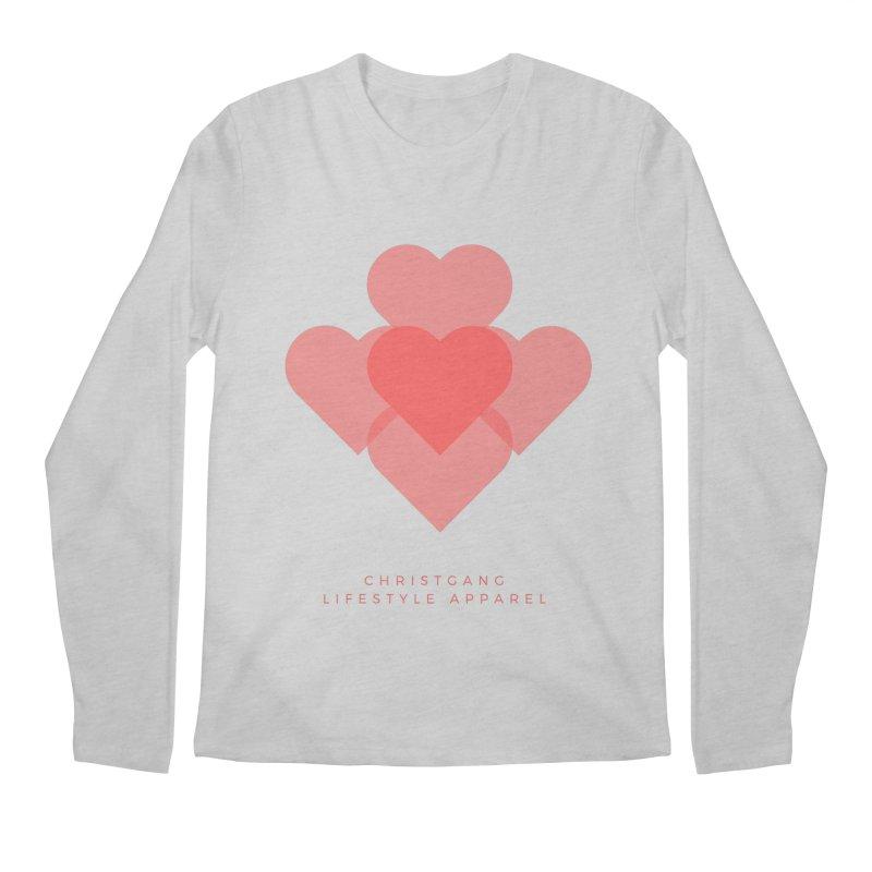 Hearts Men's Regular Longsleeve T-Shirt by ChristGang Apparel