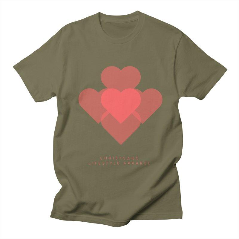 Hearts Women's Regular Unisex T-Shirt by ChristGang Apparel