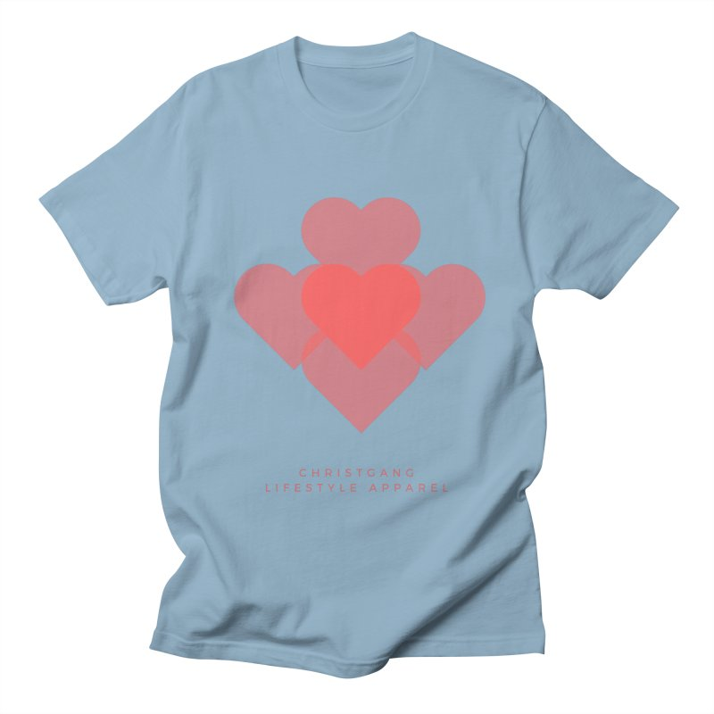 Hearts Men's Regular T-Shirt by ChristGang Apparel