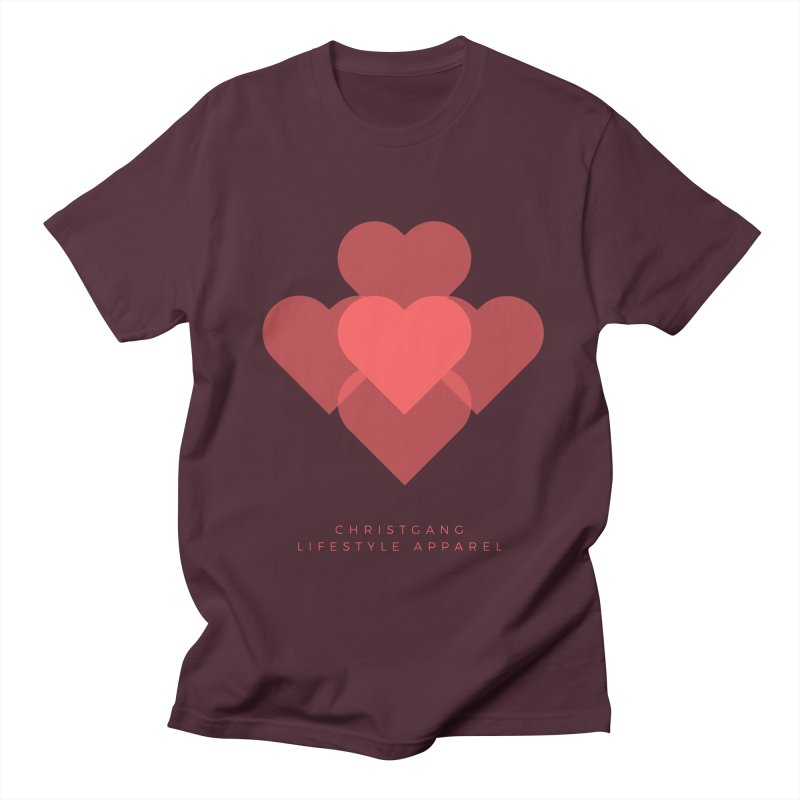 Hearts Women's Regular Unisex T-Shirt by ChristGang Apparel