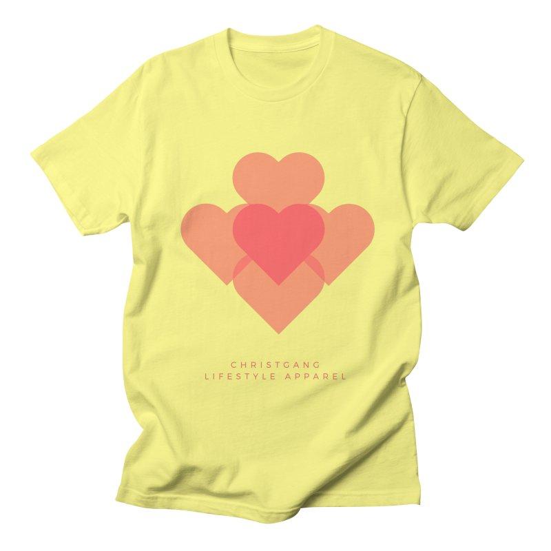 Hearts Men's Regular T-Shirt by ChristGang Apparel