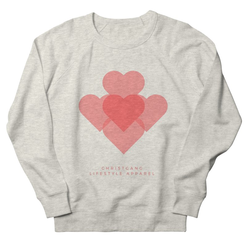 Hearts Men's French Terry Sweatshirt by ChristGang Apparel