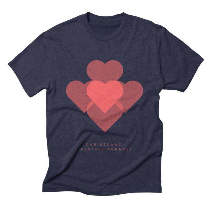 Hearts Men's Triblend T-Shirt by ChristGang Apparel