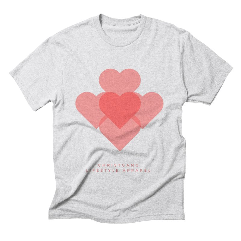 Hearts Men's Triblend T-Shirt by ChristGang Apparel