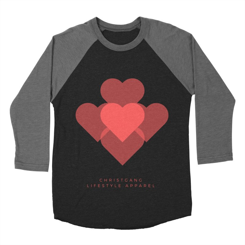 Hearts Men's Baseball Triblend Longsleeve T-Shirt by ChristGang Apparel