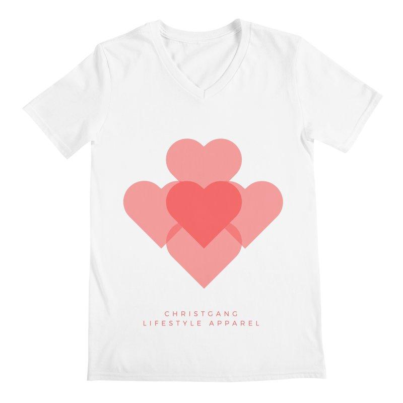Hearts Men's V-Neck by ChristGang Apparel