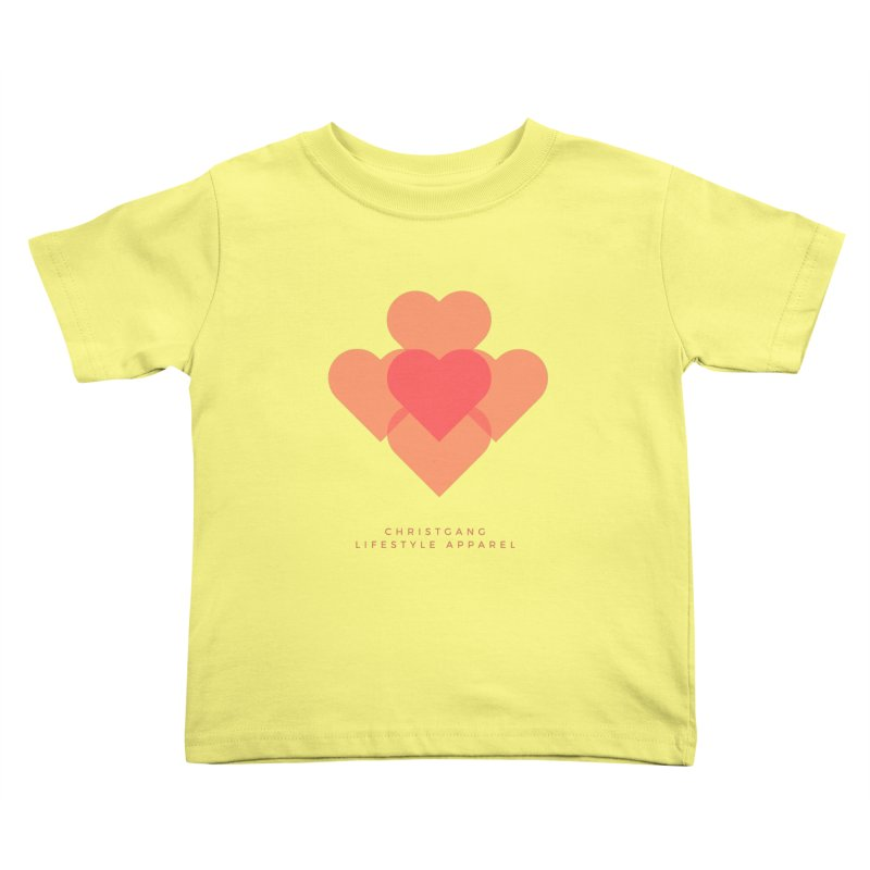 Hearts Kids Toddler T-Shirt by ChristGang Apparel
