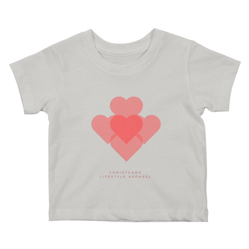 Hearts Kids Baby T-Shirt by ChristGang Apparel