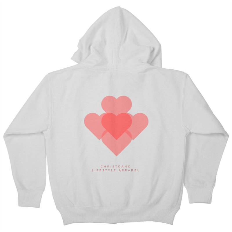 Hearts Kids Zip-Up Hoody by ChristGang Apparel