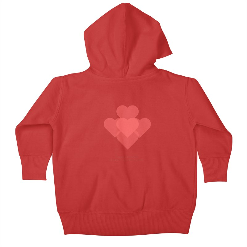 Hearts Kids Baby Zip-Up Hoody by ChristGang Apparel