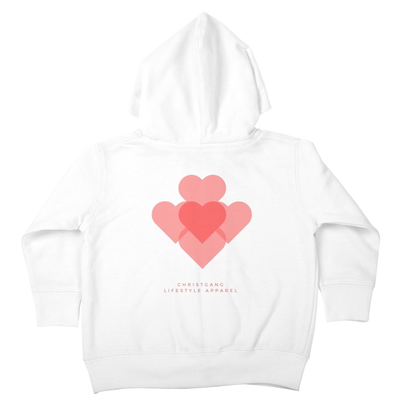 Hearts Kids Toddler Zip-Up Hoody by ChristGang Apparel