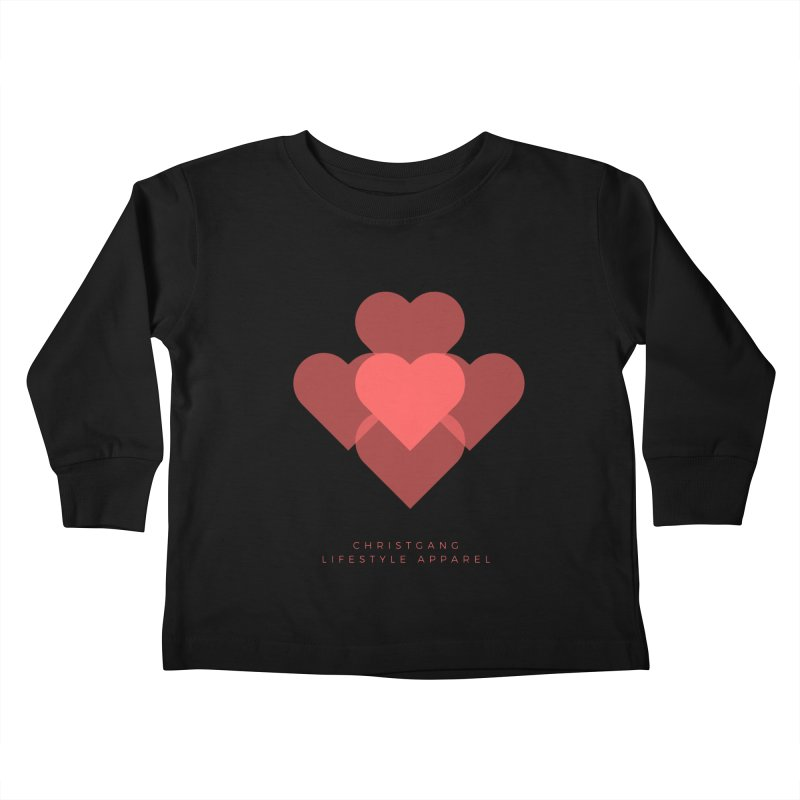 Hearts Kids Toddler Longsleeve T-Shirt by ChristGang Apparel