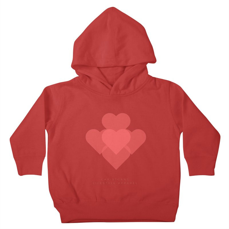 Hearts Kids Toddler Pullover Hoody by ChristGang Apparel