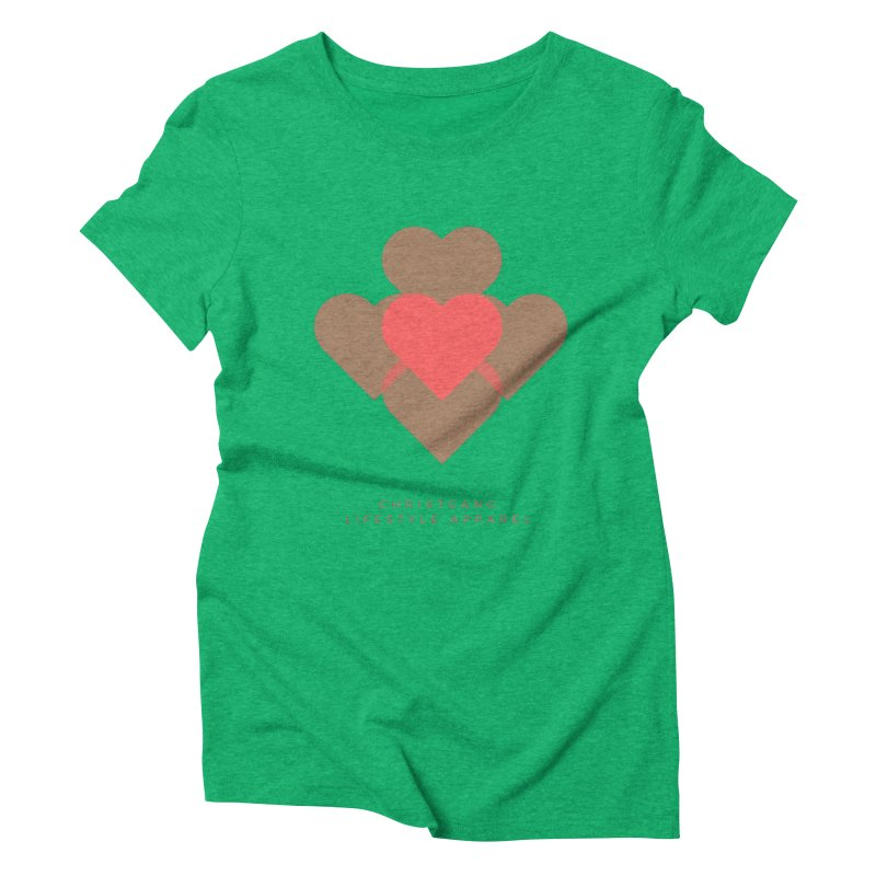 Hearts Women's Triblend T-Shirt by ChristGang Apparel