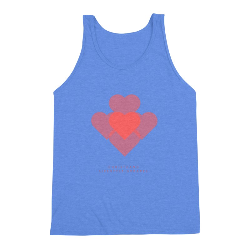 Hearts Men's Triblend Tank by ChristGang Apparel