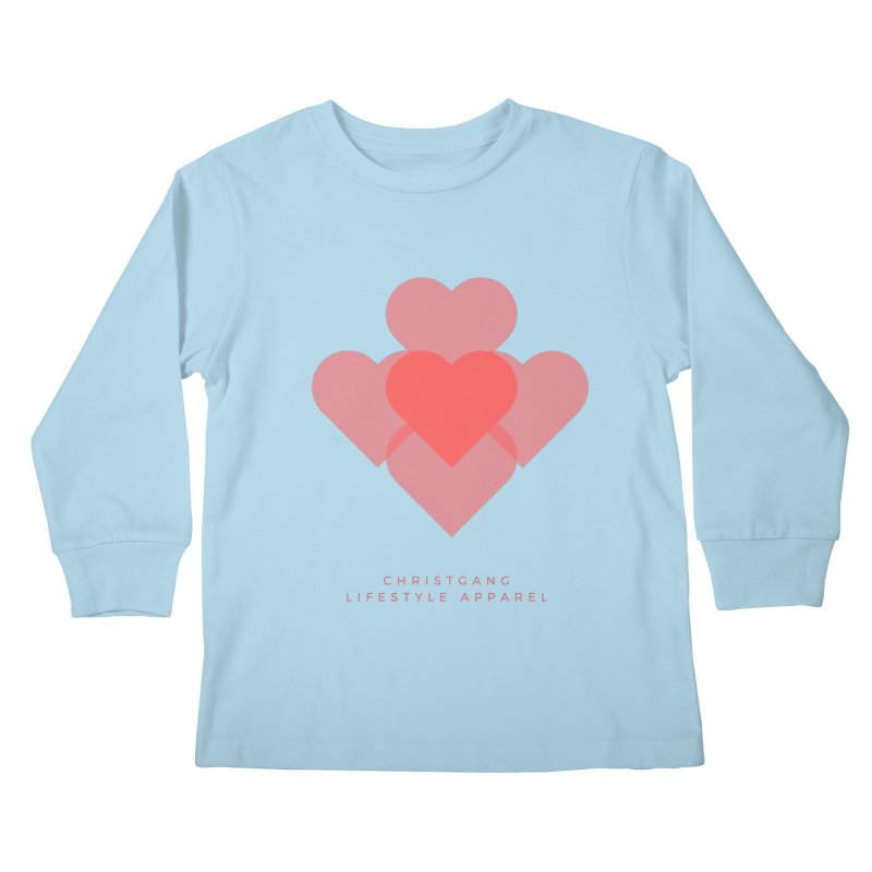 Hearts Kids Longsleeve T-Shirt by ChristGang Apparel
