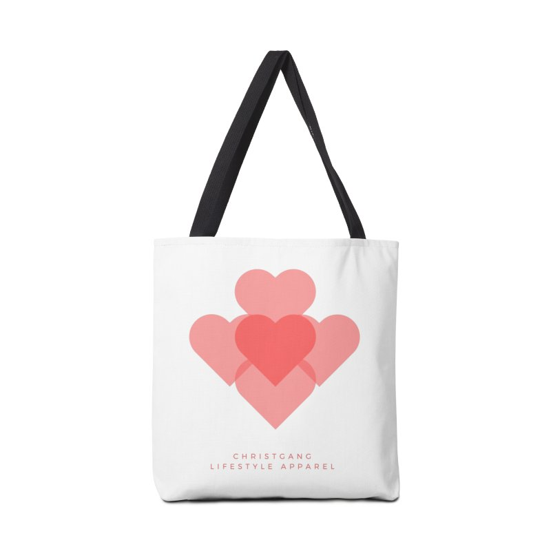 Hearts Accessories Tote Bag Bag by ChristGang Apparel