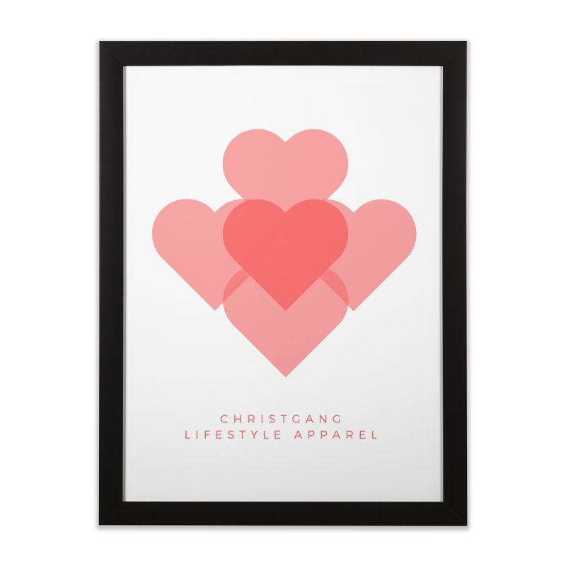Hearts Home Framed Fine Art Print by ChristGang Apparel
