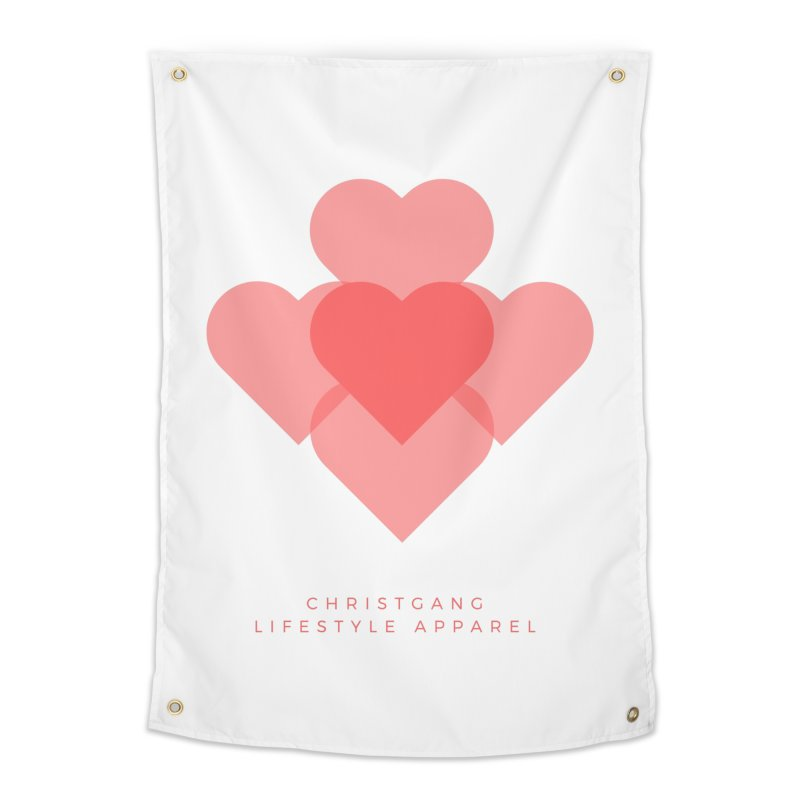 Hearts Home Tapestry by ChristGang Apparel