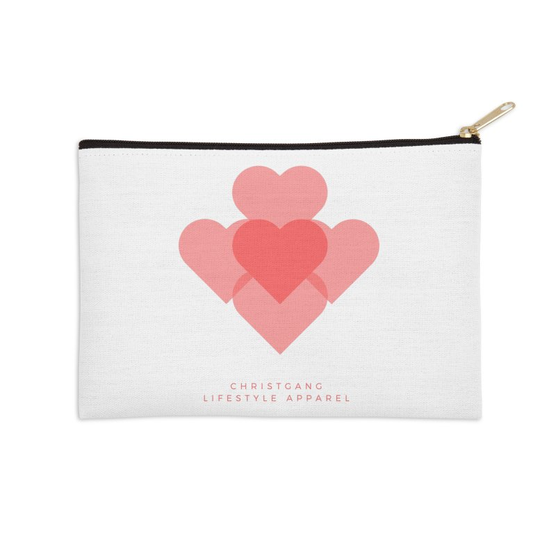 Hearts Accessories Zip Pouch by ChristGang Apparel