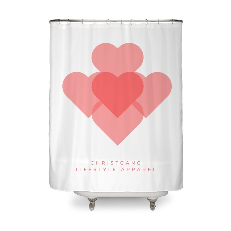 Hearts Home Shower Curtain by ChristGang Apparel