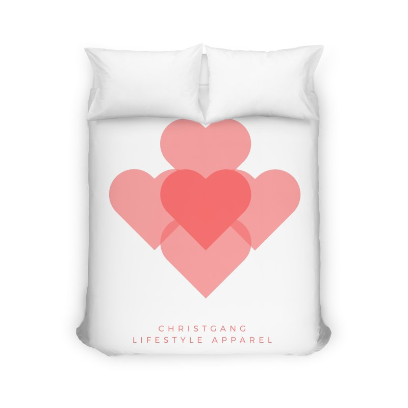 Hearts Home Duvet by ChristGang Apparel