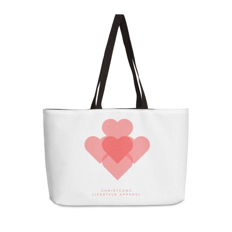 Hearts Accessories Weekender Bag Bag by ChristGang Apparel