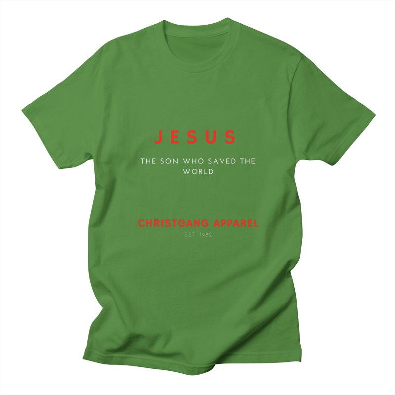 Jesus - The Son Who Saved The World Women's Regular Unisex T-Shirt by ChristGang Apparel
