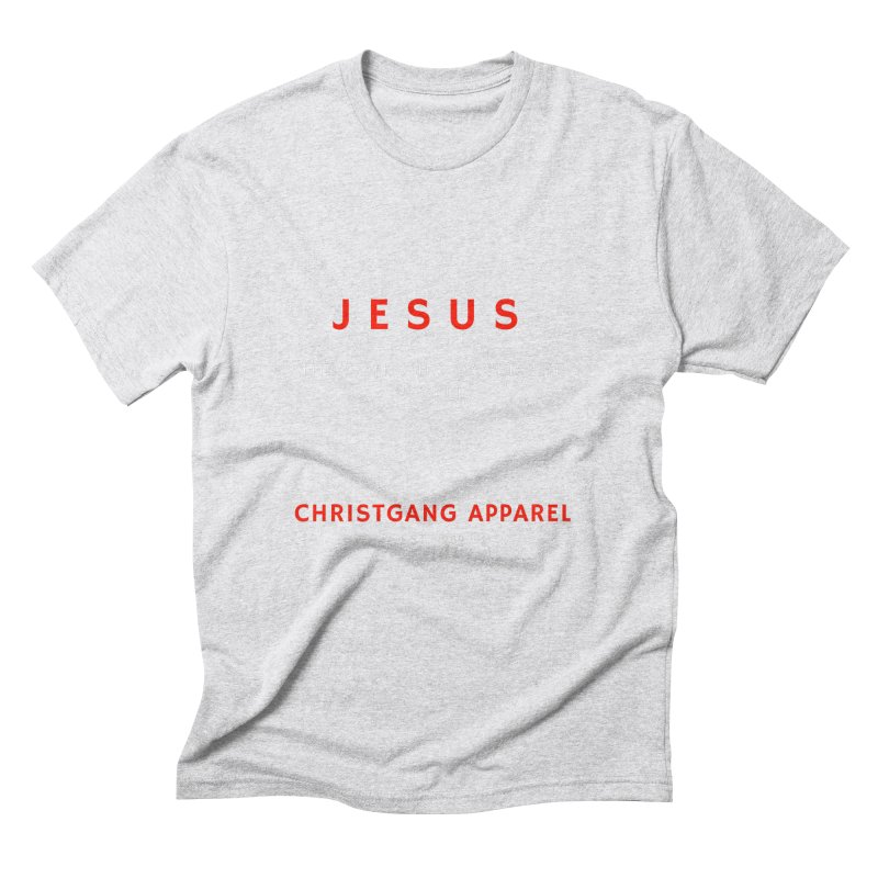 Jesus - The Son Who Saved The World Men's Triblend T-Shirt by ChristGang Apparel