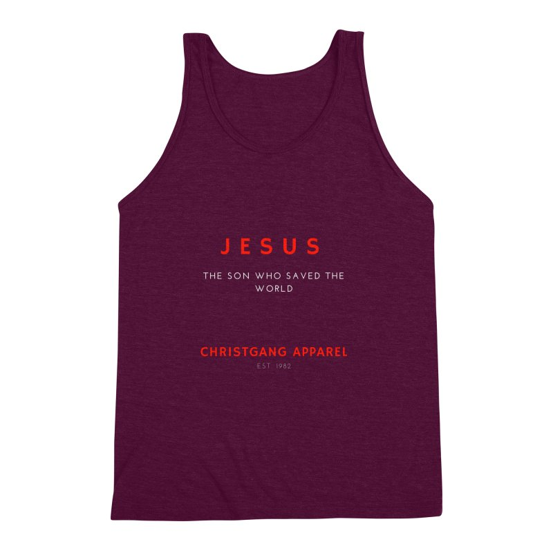 Jesus - The Son Who Saved The World Men's Triblend Tank by ChristGang Apparel