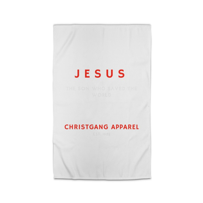 Jesus - The Son Who Saved The World Home Rug by ChristGang Apparel