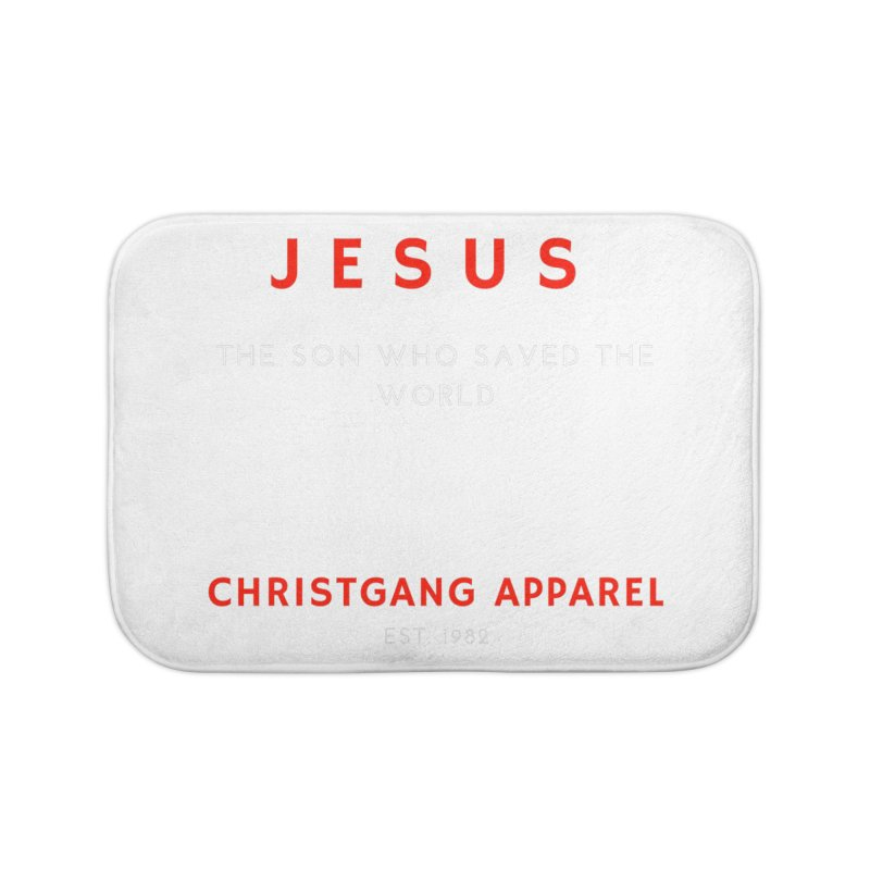 Jesus - The Son Who Saved The World Home Bath Mat by ChristGang Apparel