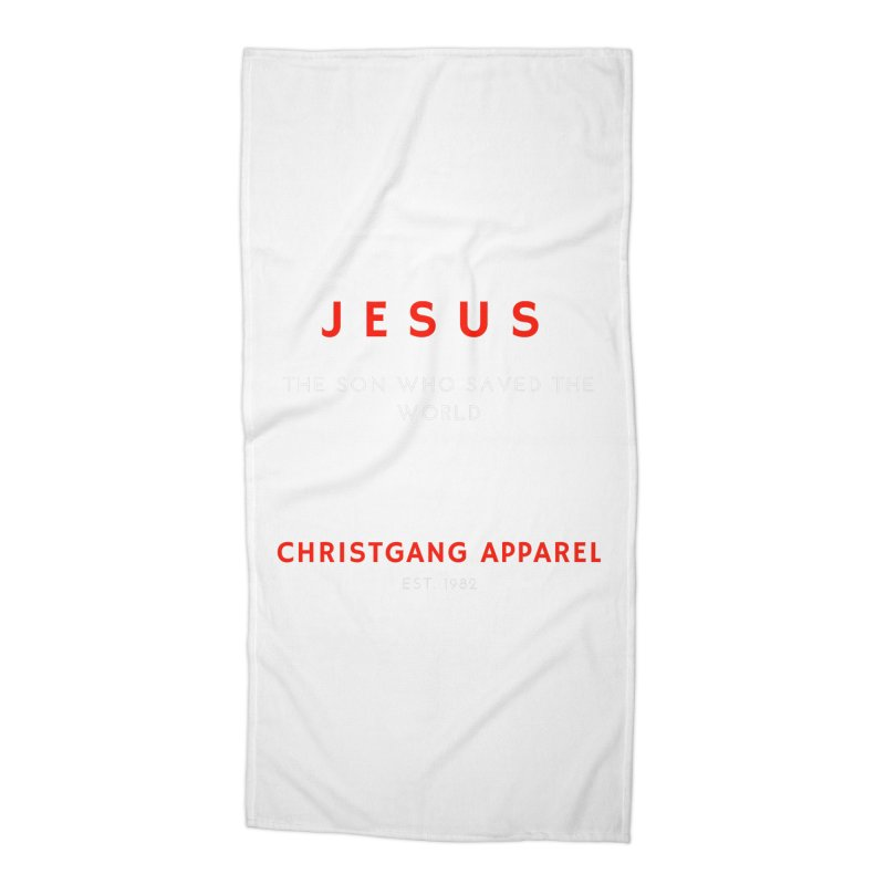 Jesus - The Son Who Saved The World Accessories Beach Towel by ChristGang Apparel