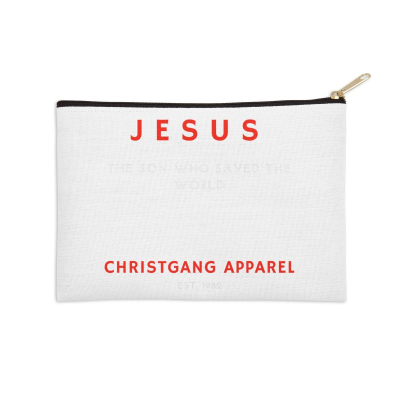 Jesus - The Son Who Saved The World Accessories Zip Pouch by ChristGang Apparel