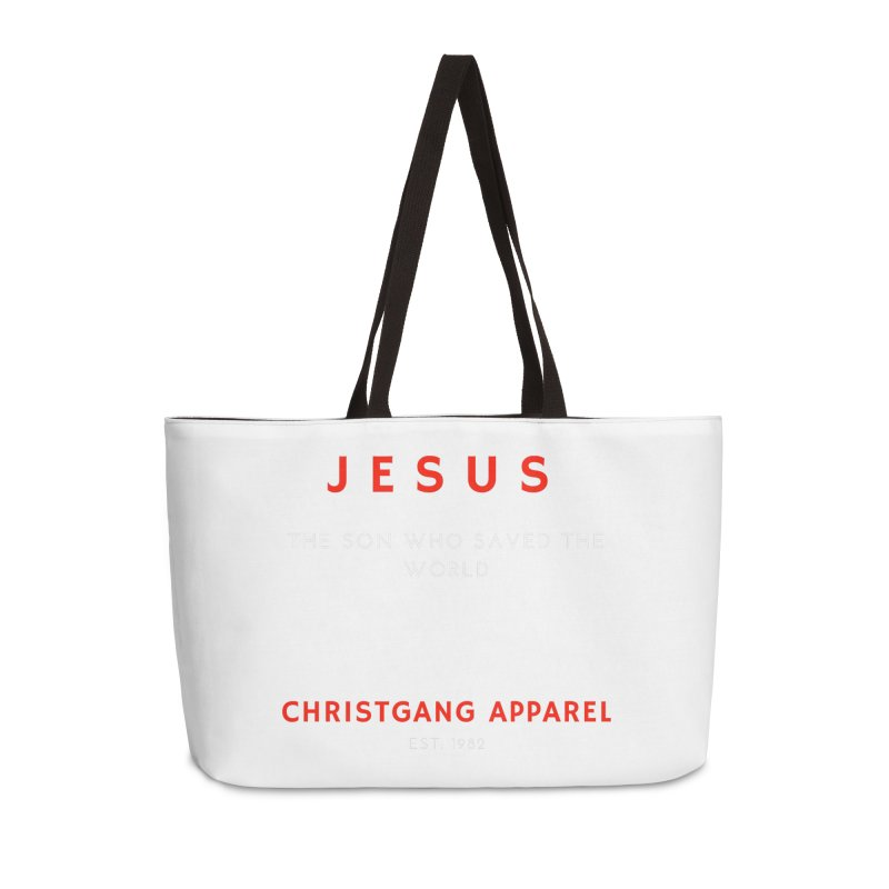 Jesus - The Son Who Saved The World Accessories Weekender Bag Bag by ChristGang Apparel