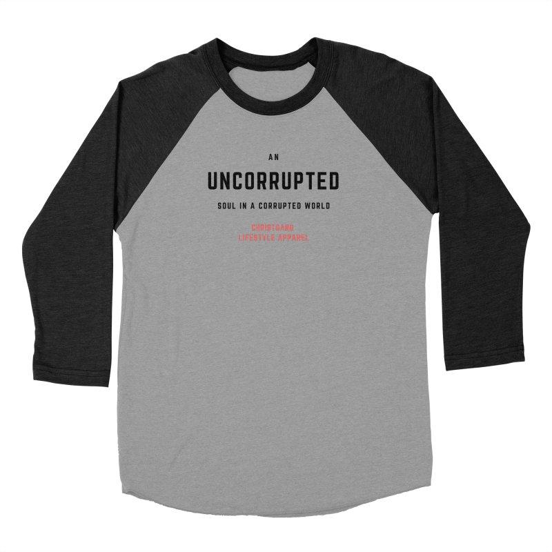 Uncorrupted Men's Baseball Triblend Longsleeve T-Shirt by ChristGang Apparel