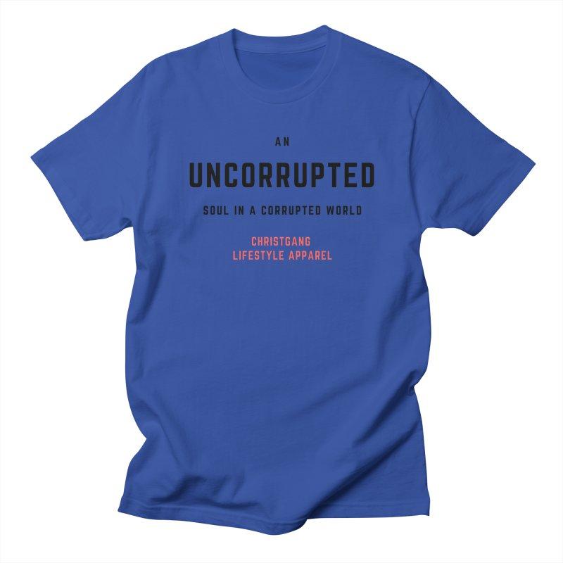 Uncorrupted Men's Regular T-Shirt by ChristGang Apparel