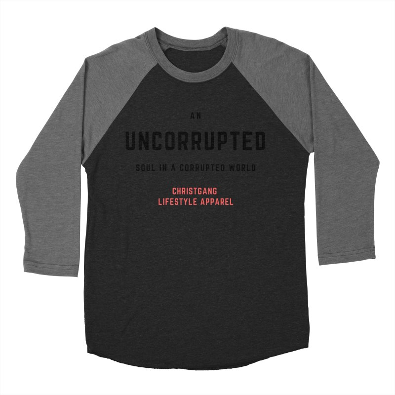 Uncorrupted Men's Baseball Triblend T-Shirt by ChristGang Apparel