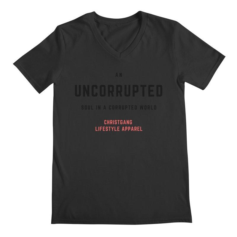 Uncorrupted Men's Regular V-Neck by ChristGang Apparel