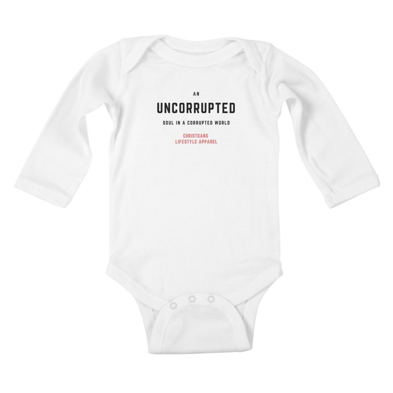 Uncorrupted Kids Baby Longsleeve Bodysuit by ChristGang Apparel