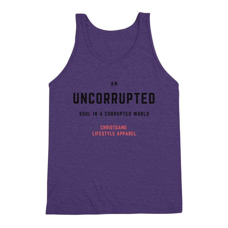 Uncorrupted Men's Triblend Tank by ChristGang Apparel